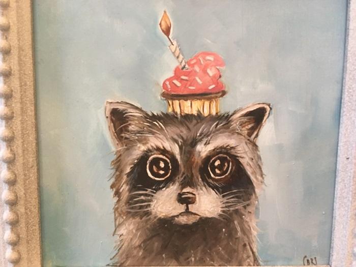 Photo of Cori Bartz Raccoon Painting