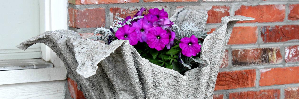DIY Draped Cement Planter