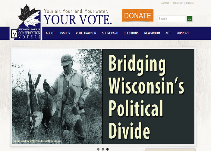 Conservation Voters Website Screenshot