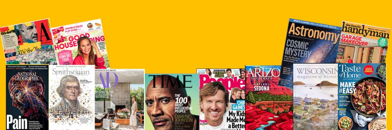 Magazines are a fun, quick read.